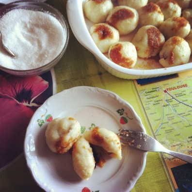 Knedle, Polish potato dumplings stuffed with plums