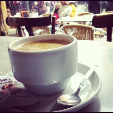 cafe con leche in Granada