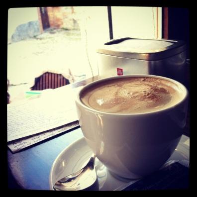 Cafe con leche, Granada, Spain.