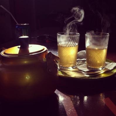 Moroccan mint tea, Marrakech.