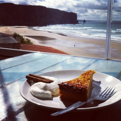 Surf break- slice of cake with a view. Aljezur, Portugal.