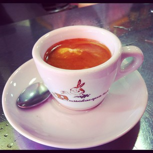 Best coffee in Naples, Italy. Espresso time.
