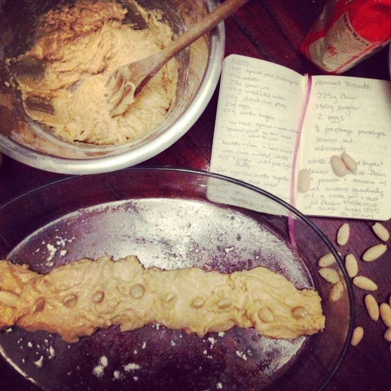 Biscotti in the making