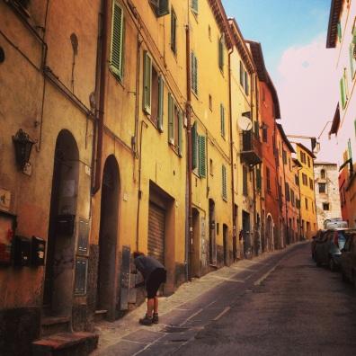 rainbow streets in Perugia