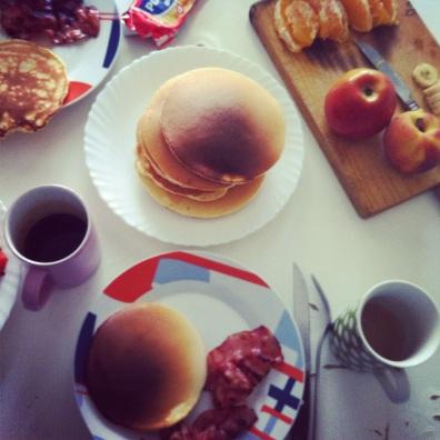 An American breakfast in Spain.