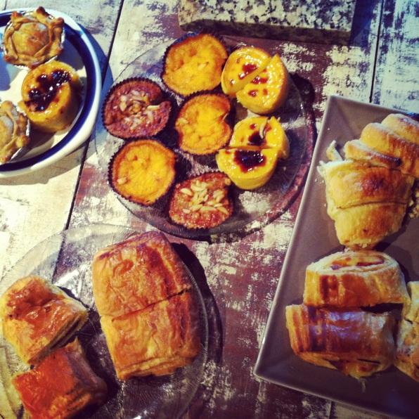 Portuguese pastries.