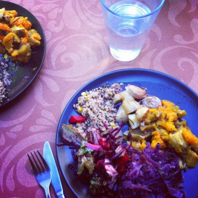 Ayurvedic vegetarian medley- Yoga at Moses, Portugal