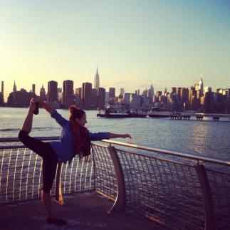 Riverside yoga, NYC edition